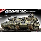 """Academy German King Tiger """"Last Production"""" Military Land Vehicle Model Building Kit"""