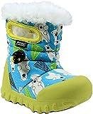 Bogs Baby B-Moc Waterproof Insulated Toddler Winter Boot, Bears Print/Aqua/Multi, 11 M US Little Kid