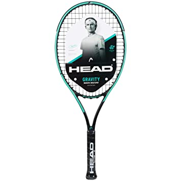 Head Graphene 360+ Gravity Junior Tennis Racquet Strung with Custom Racket String Colors (Pro Player Alexander Sascha Zverevs Racquet Series)