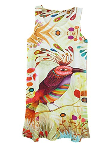 Bird T shirt YICHUN Vintage Donna a71xxSf