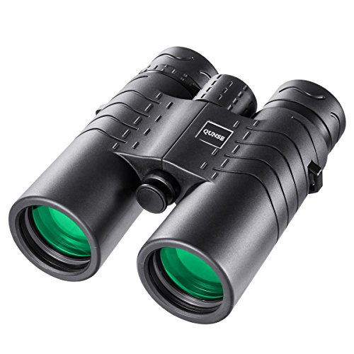 View Clear Lens - QUNSE HD Waterproof Binoculars for Adults, 8X42 Large Ocular and Object Lens, Crystal Clear Large View - Compact Lightweight for Bird Watching Clearly ,Outdoors, Concert, Tour and Hunting with Strap
