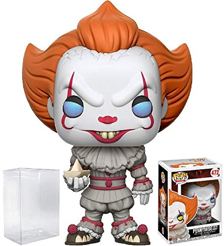 Funko Pop! Stephen King's It Pennywise Clown Vinyl Figure (Bundled with Pop BOX PROTECTOR -