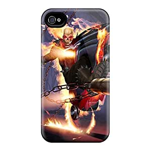 Hot OxqPHuv75PRjnC Ghost Rider I4 Tpu Case Cover Compatible With Iphone 4/4s