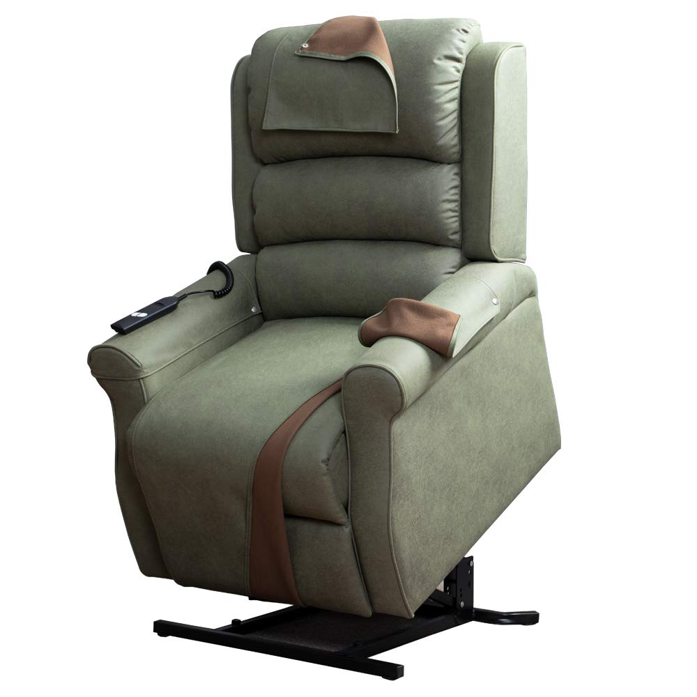 Irene House Power Modern Transitional Lift Chair Recliners with So Soft Breath Suede Fabric (Sage) by Irene House