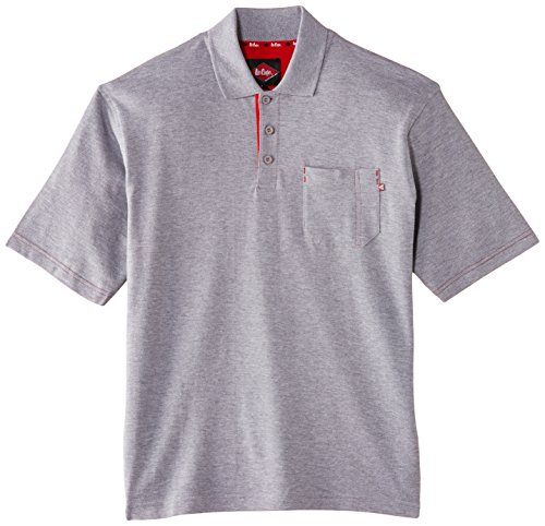 Lee Cooper Workwear Pique Polo Shirt, L, grau, LCTS011
