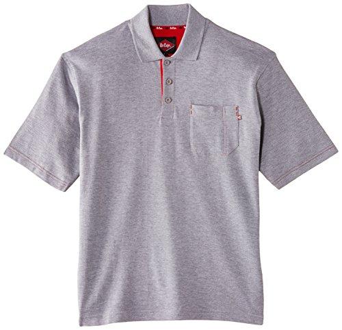 Lee Cooper Workwear Pique Polo Shirt, XL, grau, LCTS011