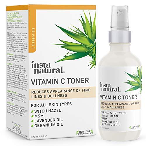 InstaNatural Vitamin C Facial Toner – Anti Aging Face Spray with Witch Hazel – Pore Minimizer & Calming Skin Treatment…