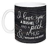 I Love You A Bushel & A Peck Distressed Wood Look 15 Ounce Ceramic Coffee Mug