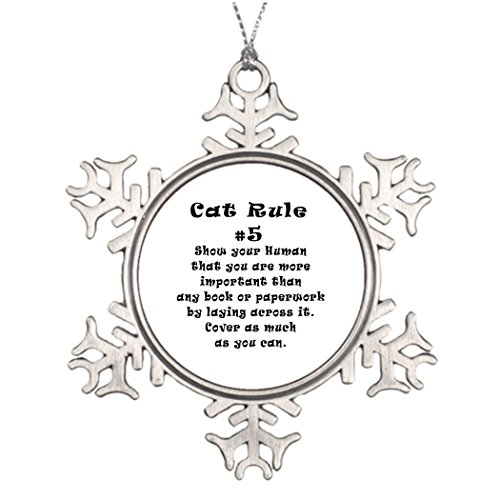 Rules Cat Number (Take_U Large Christmas Tree Snowflake Ornaments Cat Rules Number 5 Stained Glass Snowflake Ornaments)