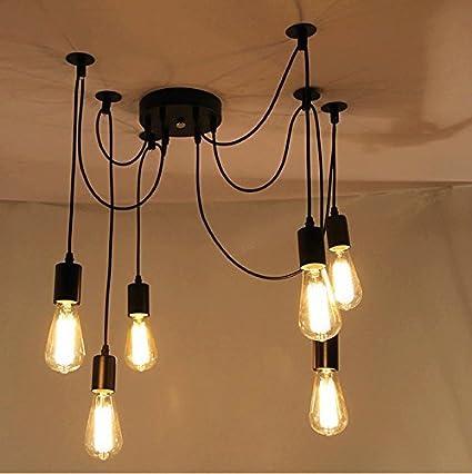 ONEVER E27 Loft antico lampadario moderno Chic Industriale pranzo ...