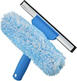 2 x Unger Professional Microfiber Window Combi: 2-in-1 Professional Squeegee and Window Scrubber, 6''