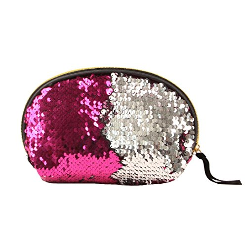 Zipper Color Bag Handbag Double Sequins Women Bag Women Pink Wallet for Lavany Cluthes Hot wxTfYqzW