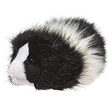 Douglas Toys Angora Black & White Guinea Pig