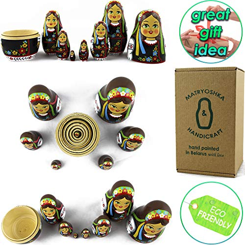 MATRYOSHKA&HANDICRAFT Ukrainian Nesting Dolls 7 Pieces - Ukrainian Gifts - Ukrainian Folk Costume Clothing by MATRYOSHKA&HANDICRAFT (Image #4)