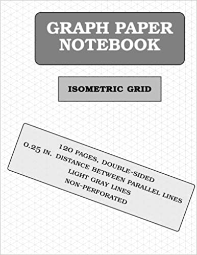 isometric graph paper notebook 120 pages 1 4 inch distance between