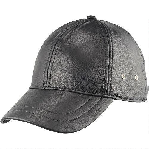 Wilsons Leather Mens Lamb Baseball Cap Black