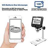 LCD Digital Microscope, ONETEKS WiFi 4.3 inch