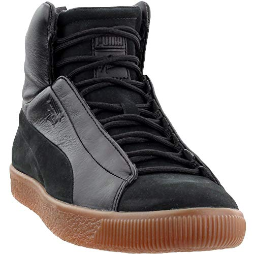 PUMA Unisex Puma x Naturel Clyde Fashion Mid Sneaker Puma Black 10.5 Women / 9 Men M US