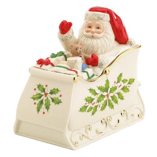 [Lenox Holiday Sleigh Covered Candy Dish] (Christmas Sleigh Candy Dish)