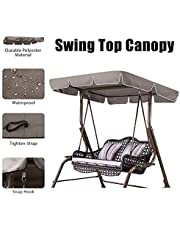 Essort Swing Top Cover, Impermeable Anti-UV Swing Top Protectora Canopy Repuesto para Exterior Porche Patio Swing, 190 × 132 × 14 cm
