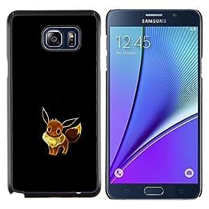 YiPhone /// Prima de resorte delgada de la cubierta del caso de Shell Armor - Meter Monstruo lindo Amarillo - Samsung Galaxy Note 5 5th N9200