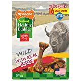 Nylabone Healthy Edibles Natural Bison Dog Treats, Small, 16 Count