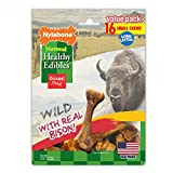 Nylabone Healthy Edibles Natural Bison Dog Treats, Small, 16 Count For Sale