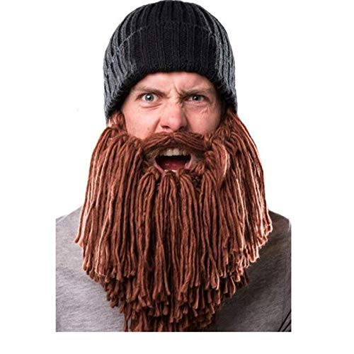 857f5d89502 Image Unavailable. Image not available for. Color  Big Men Bearded Winter  Windproof Funny Hat ...