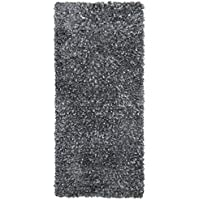 Grey Blue Shimmer Shag (2x5) Runner