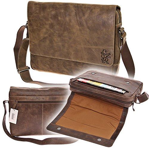 Branco Messenger Bag Schultertasche Schultasche College Tasche Canvas Crossover Dokumentenmappe