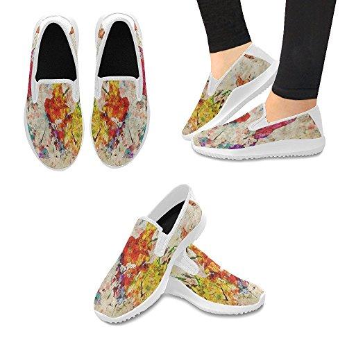 InterestPrint Loafer Slip On Shoes Women Canvas Fashion Sneakers Multi 14 2eqiz