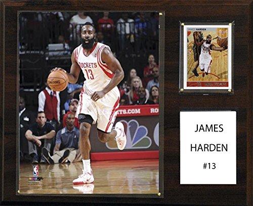 NBA Houston Rockets James Harden Player Plaque, 12 x (Houston Rockets Team Logo Patch)