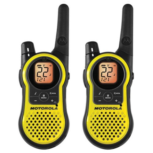 Motorola 23-Mile Range, 22-Channel, 2-Way Radios made our list of camping safety tips for families who RV and tent camp