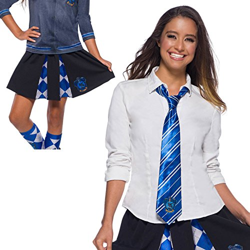 Harry Potter Costume Kit, Girls Ravenclaw Skirt and Tie, One Size ()