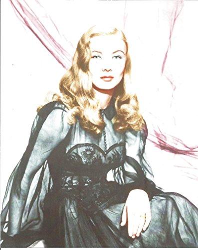 Veronica Lake black see through dress sitting -