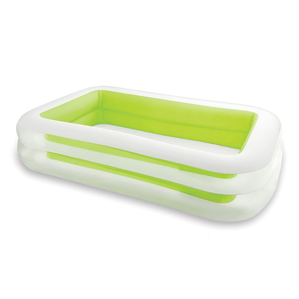 MIAO-bañera Gran Piscina Familiar Inflable Verde Piscina para Niños Multijugador para Niños Tamaño: 262  175  56cm