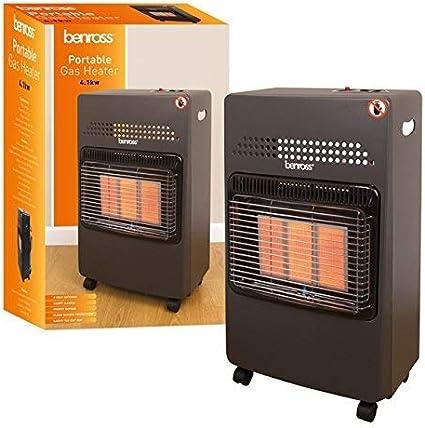 Benross 4.1kW Portable Gas Cabinet Heater 4100 Watt Black ...