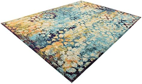 Unique Loom Vita Collection Traditional Over-Dyed Vintage Blue Area Rug 9 0 x 12 0