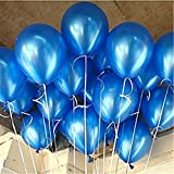 """AnnoDeel 100 Pcs 10"""" Latex Blue Balloons, Pure Pearl Helium Wedding Decorations Birthday Party Decorations Blue Balloons"""