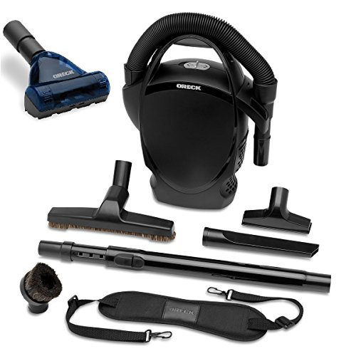 Oreck Ultimate Handheld Bagged Canister Vacuum Bundle With Handheld Pet Hair Turbo Brush, CC1600-TBK