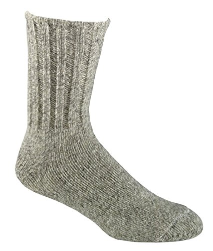 FoxRiver Outdoor Norwegian Crew Heavyweight Wool Socks, Small, Brown Tweed (Socks River Wool Fox)