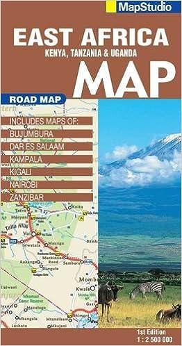 East Africa Road Map.East Africa Road Map 1 2 500 000 Kenya Tanzania Uganda