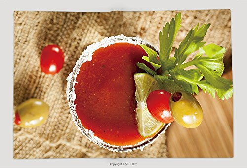 Supersoft Fleece Throw Blanket Spicy Bloody Mary Alcoholic Drink With A Tomato Garnish 134092742