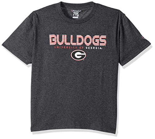 Champion NCAA Youth Boy's Granite Short Sleeve Jersey Shirt Georgia Bulldogs Medium