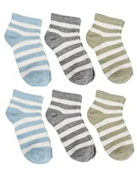 Cottonful 100% Cotton Contact Kids/Toddlers Socks (6 pairs)