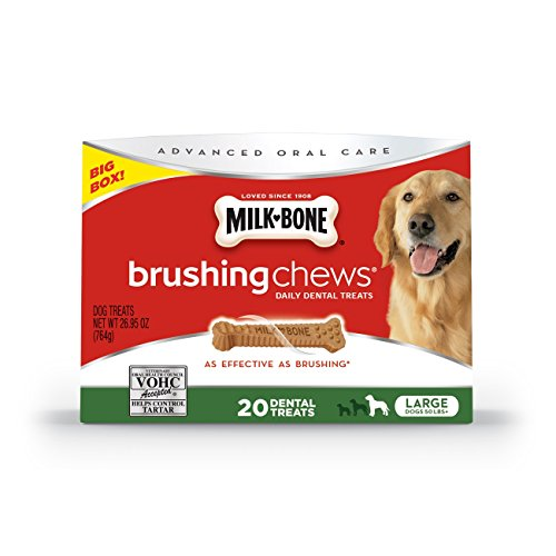 Milk-Bone Brushing Chews Daily Dental Dog Treats, Large/26.95 oz.