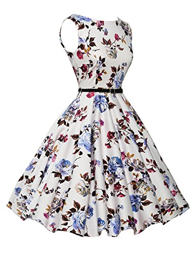 b5965fc6176d Aeropost.com Colombia - GRACE KARIN Boatneck Sleeveless Vintage Tea Dress  Belt