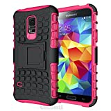 Galaxy S5 Case, Cocomii® [HEAVY DUTY] Grenade Case *NEW* [ULTRA TITAN ARMOR] Premium Shockproof Kickstand Bumper Case [MILITARY DEFENDER] Full-body Rugged Dual Layer Hybrid Cover (Pink) ★★★★★