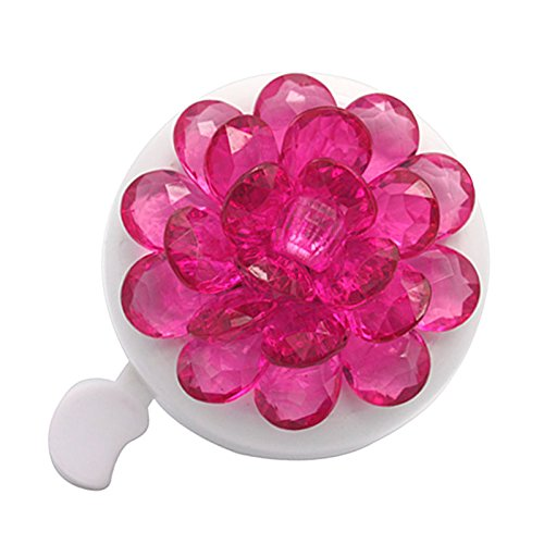 DRBIKE Kids Bike Bell with Plastic Flower, Handlebar Bicycle Bell for Girls & Boys, Kids Bike Accessories for Child, Pink