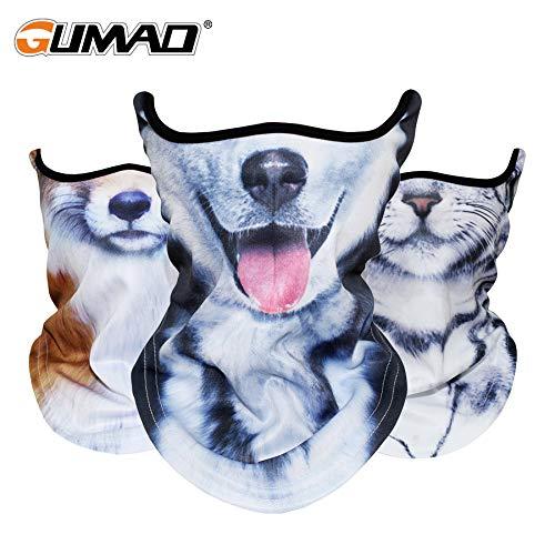 CUSHY Outdoor 3D Cat Dog Bandana Half Face Mask Warmer Neck Gaiter Face Shield Bike Ski Hiking Cycling Sport Balaclava Scarf Men Women 11